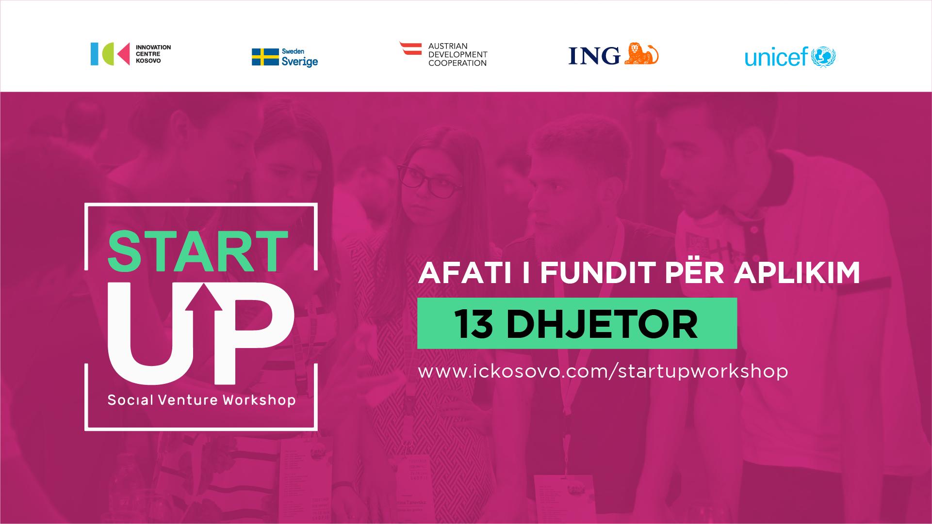 """Hapen aplikimet për edicionin e dytë të garës """"StartUP Social Venture"""" nga ICK dhe UNICEF"""