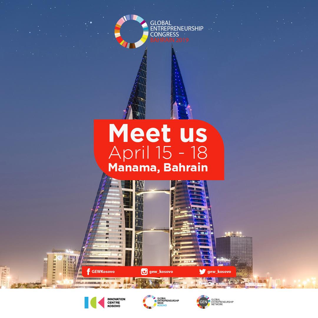 Kosovo part of the Global Entrepreneurship Congress in Bahrain