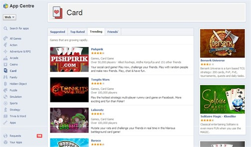 Pishpirik the most trending card game in Facebook