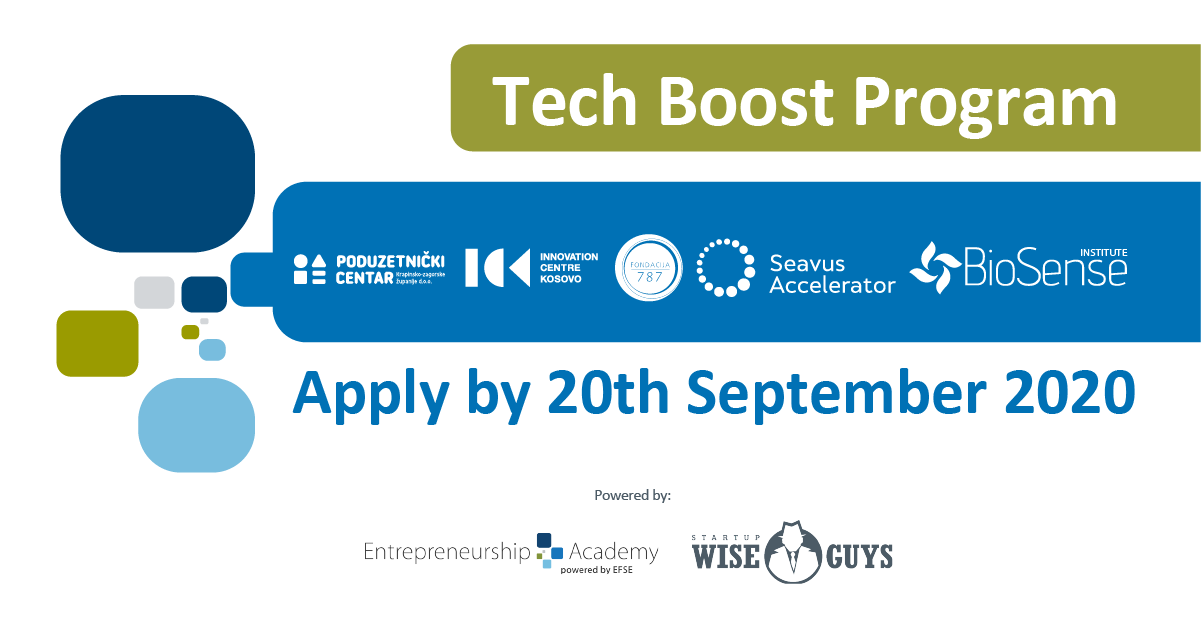 Tech Boost Program – Learn from the best and prepare your startup for investment