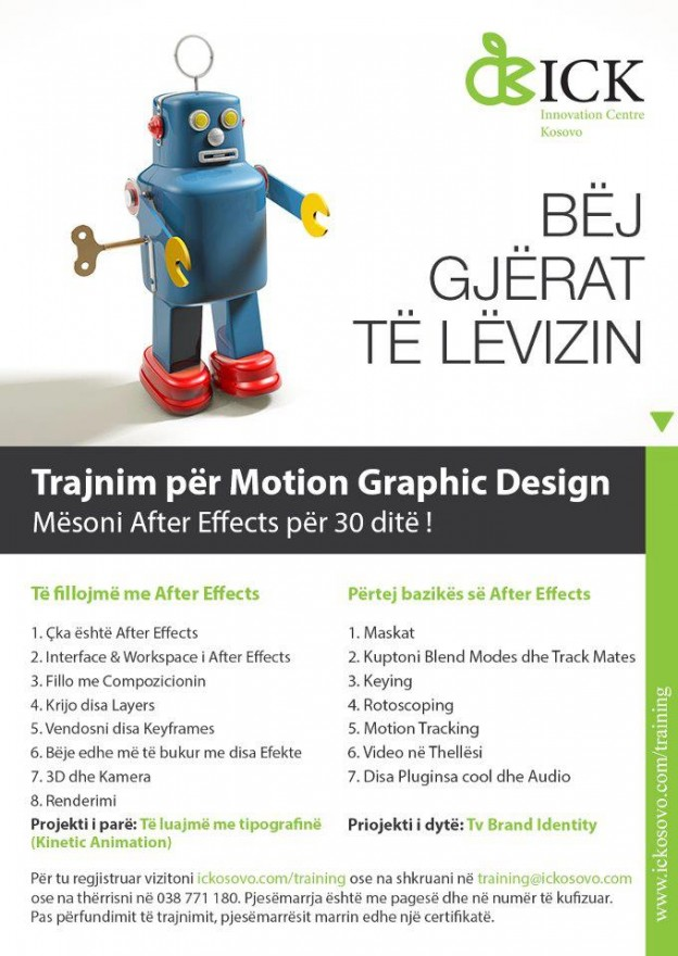 A new training at ICK – Motion Graphics