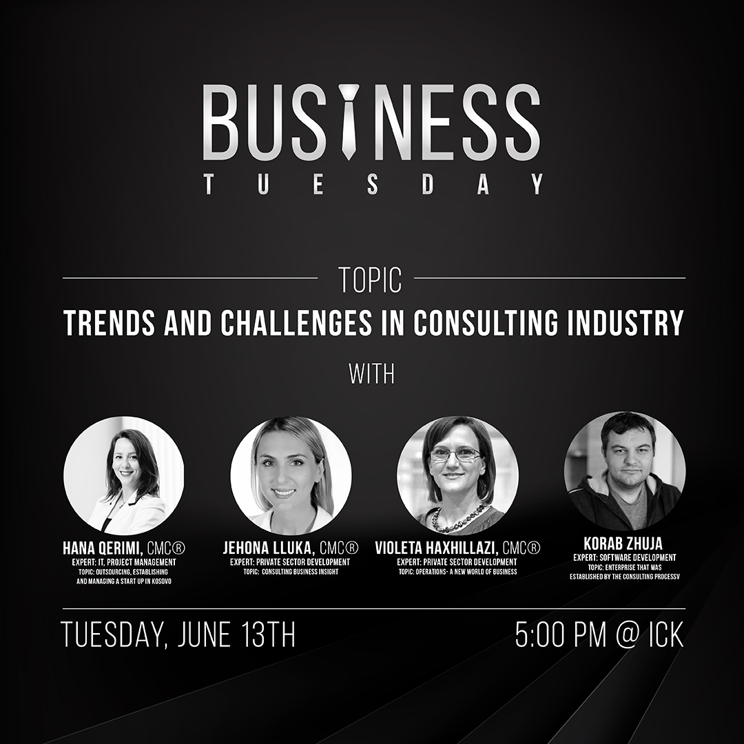 Business Tuesday : Topic Trends and Challenges in Consulting Industry