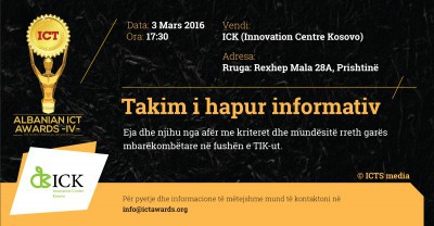 Albanian ICT Awards — Takim Informativ