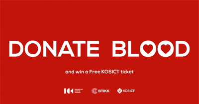 Donate Blood and win a Free KosICT Ticket