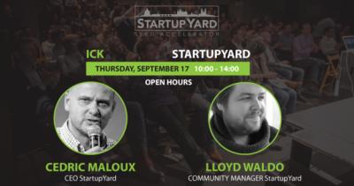 Open Hours with Cedric Maloux & Lloyd Waldo (Startup Yard)