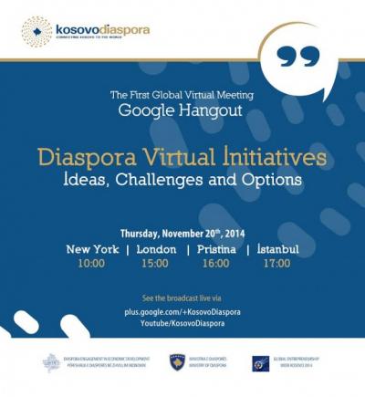 The First Ever Virtual Meeting of Kosovo Diaspora with the Kosovo  Government Representatives