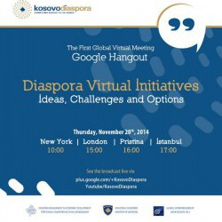 The First Ever Virtual Meeting of Kosovo Diaspora with the Kosovo  Government Representatives