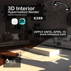 3D Interior  Hyperrealism Render Training