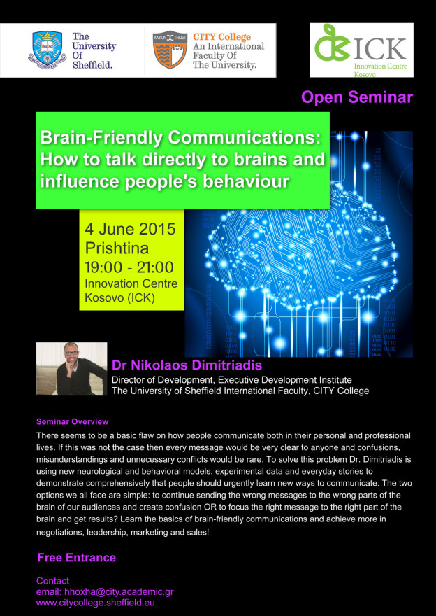Brain-Friendly Communications: How to talk directly to brains and influence people's behavior