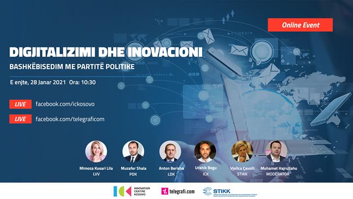 ICK, Telegrafi dhe STIKK organizojnë diskutimin mbi digjitalizimin dhe inovacionin